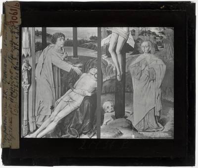 Rogier van der Weyden en Anoniem. Vergelijking infraroodbeelden