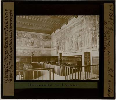 San Gimignano. Piazza del Duomo. Palazzo Comunale :Sala di Dante. Lippo Memmi: Maestà