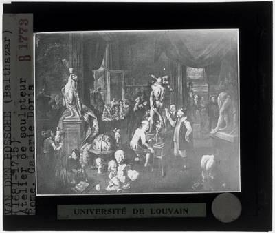 Balthasar van den Bossche. Atelier van een beeldhouwer