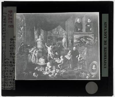 Balthasar van den Bossche. Atelier van een schilder