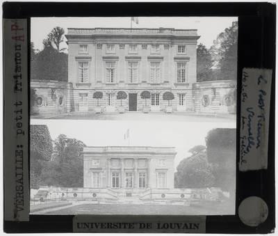 Versailles. Petit Trianon :Exterieur: Voor- en achtergevel