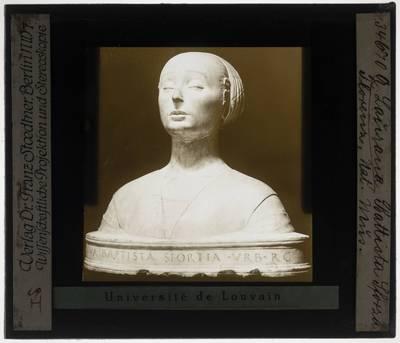 Francesco Laurana. Portret van Battista Sforza