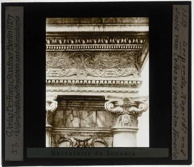Andrea del Verrocchio. Alessandro Leopardi. Ruiterstandbeeld van Bartolomeo Colleoni :Detail van de sokkel