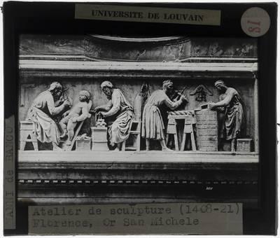 Nanni di Banco. Quattro Santi Coronati :Detail: Atelier van de beeldhouwer
