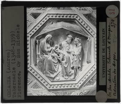 Orcagna. Tabernakel :Detail: Aanbidding van de koningen
