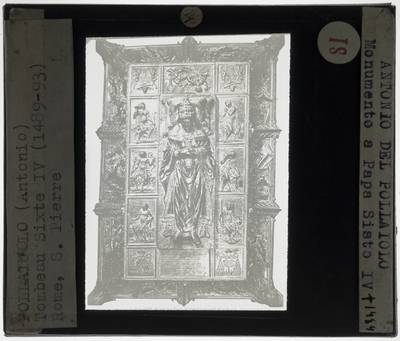 Antonio Pollaiuolo. Grafmonument van Paus Sixtus IV
