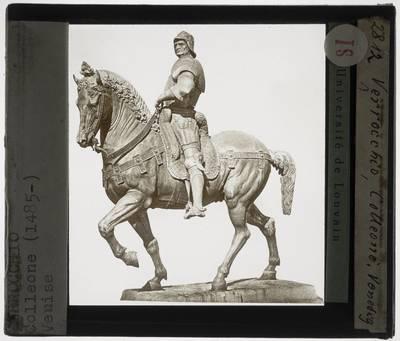 Andrea del Verrocchio. Alessandro Leopardi. Ruiterstandbeeld van Bartolomeo Colleoni :zijaanzicht van rechts, zonder de sokkel