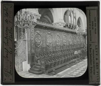 Paris. Cathédrale Notre Dame :Koorgestoelte