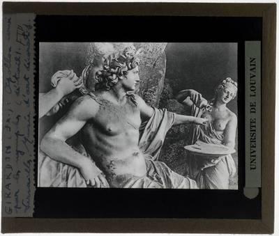 François Girardon. Apollon servi par les Nymphes :Detail: Apollo