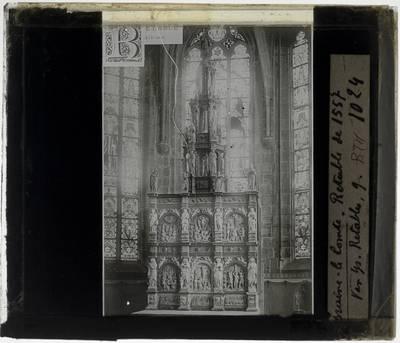 Jean Mone. Retabel in de kerk Sint Gorik, 's Gravenbrakel