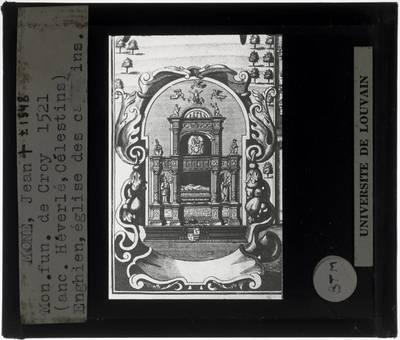 Jean Mone. Grafmonument voor Willem van Croÿ :Tekening