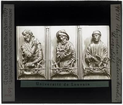 Erasmus Grasser. Drie halffiguren op koorgestoelte