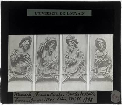 Erasmus Grasser. Vier halffiguren op koorgestoelte