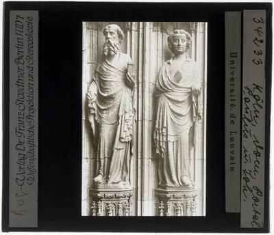 Peter Parler (familie). Zuilbeelden van Paulus en Johannes :Köln, Kölner Dom