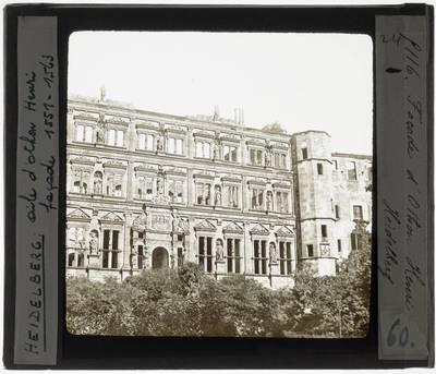 Heidelberg. Schloss Heidelberg :Exterieur: Ottheinrichsbau