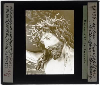 Nikolaus Gerhaert. Kruisiging :Detail: hoofd van Christus