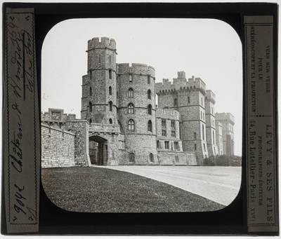Windsor. Windsor Castle :Exterieur: Zicht vanuit het zuiden
