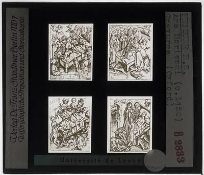 Meester E.S. Ars Moriendi :Vier gravures
