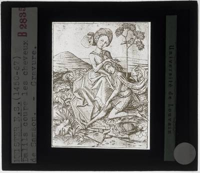Meester E.S. Delilah snijdt de haren van Samson af