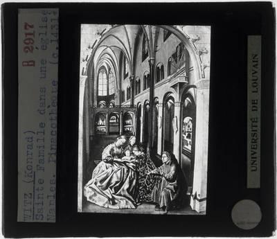 Konrad Witz. De heilige familie met andere heiligen