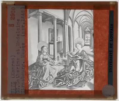 Konrad Witz. De heilige Katharina en de heilige Maria Magdalena
