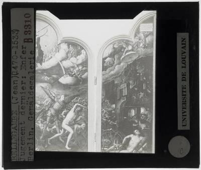 Image from object titled Jean Bellegambe. Laatste oordeel :Paneel centraal, detail en paneel rechts: Hel