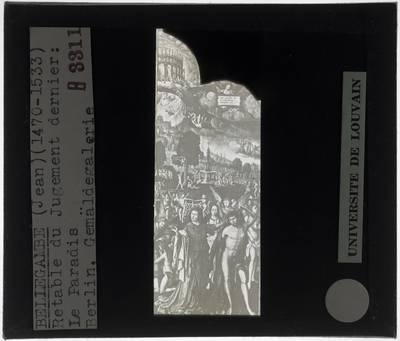 Image from object titled Jean Bellegambe. Laatste oordeel :Paneel links: Paradijs