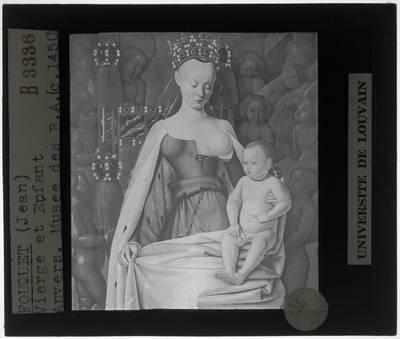 Jean Fouquet. Maria en Jezus, omgeven door seraphijnen en cherubijnen