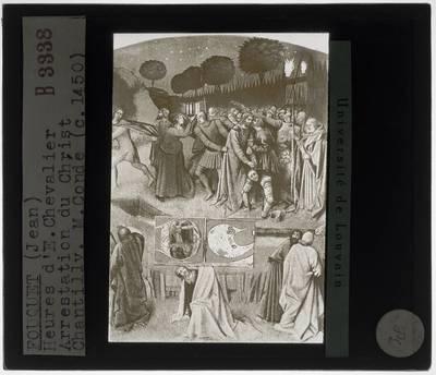 Jean Fouquet. Getijdenboek van Étienne Chevalier :Miniatuur: Aanhouding van Christus