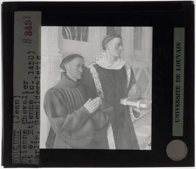 Jean Fouquet. Etienne Chevalier met Sint-Stefanus