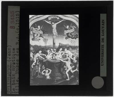 Image from object titled Jean Bellegambe. Triptiek van het mystieke bad :Centraal paneel