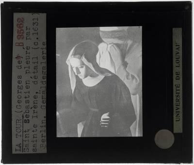 Georges de La Tour. De heilige Irene vindt de heilige Sebastiaan :Detail: De heilige Irene