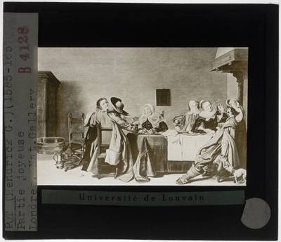 Hendrik Gerritsz. Pot. Elegant rokend en drinkend gezelschap in een interieur