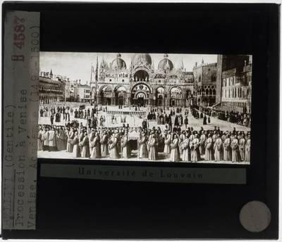 Gentile Bellini. Processie op de Piazza San Marco