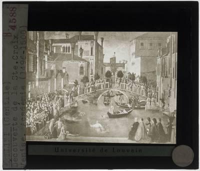 Gentile Bellini. Mirakel van het Heilige Kruis op het kanaal van San Lorenzo