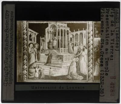 Taddeo Gaddi. Legende van Maria :Presentatie van Maria in de tempel