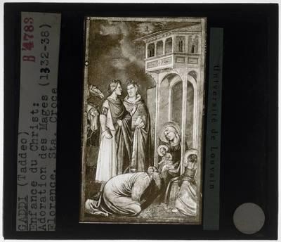 Image from object titled Taddeo Gaddi. Aanbidding van de koningen