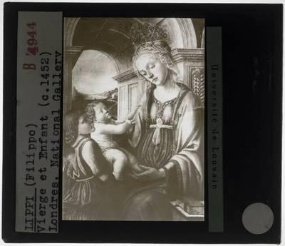 Filippo Lippi (navolger). Madonna met kind en engel