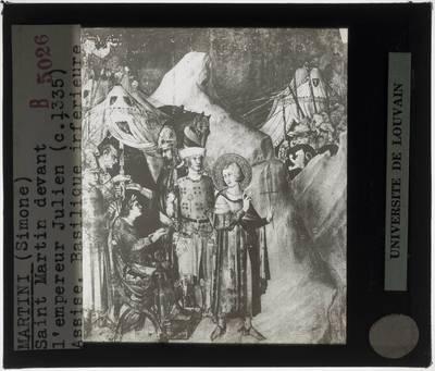 Simone Martini. Cappella di San Martino :Heilige Martinus en keizer Julianus