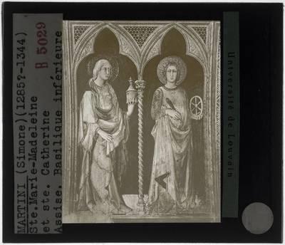 Simone Martini. Cappella di San Martino :Maria Magdalena en Heilige Catharina