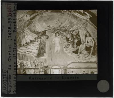 Masolino da Panicale. Het doopsel van Christus