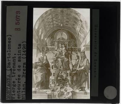 Bartolomeo Montagna. Getroonde Madonna met heiligen