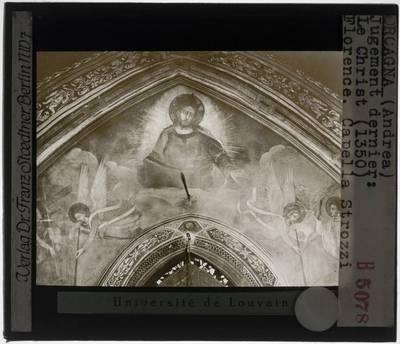 Orcagna. Het Laatste Oordeel :Detail: Christus