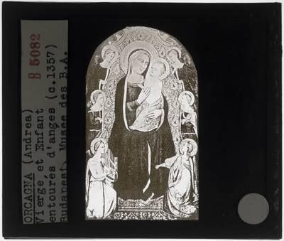 Orcagna. Madonna met kind en engelen