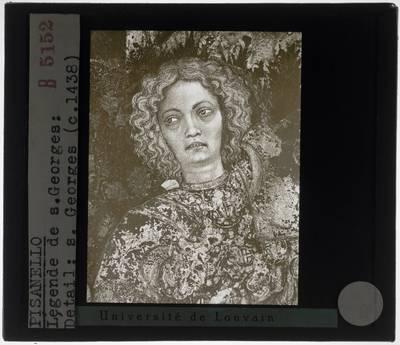 Pisanello. Sint-Joris en de prinses van Trebizonde :Detail: Sint-Joris