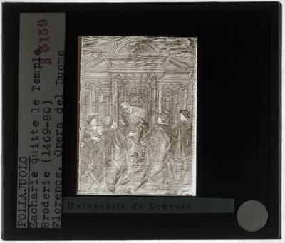 Antonio Pollaiuolo. Zacharias verlaat de tempel