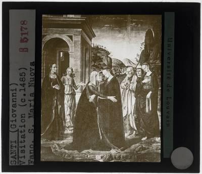 Giovanni Santi. Visitatie van Maria
