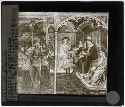 Image from object titled Spinello Aretino. Paus Alexander III ontvangt een ambassadeur