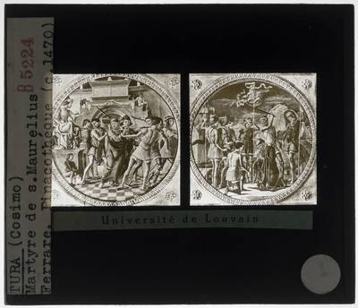 Cosimo Tura. Veroordeling van Sint-Mauritius. Martelaarschap van Sint-Maurelius