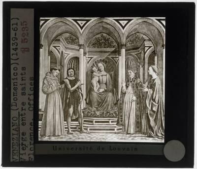 Domenico Veneziano. Madonna en kind met heiligen